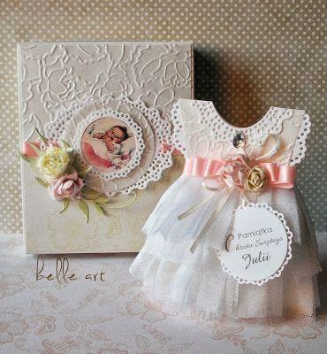belle art: sukienka, kartka sukienka, chrzest, dress card, scrapbooking, baptism, handmade
