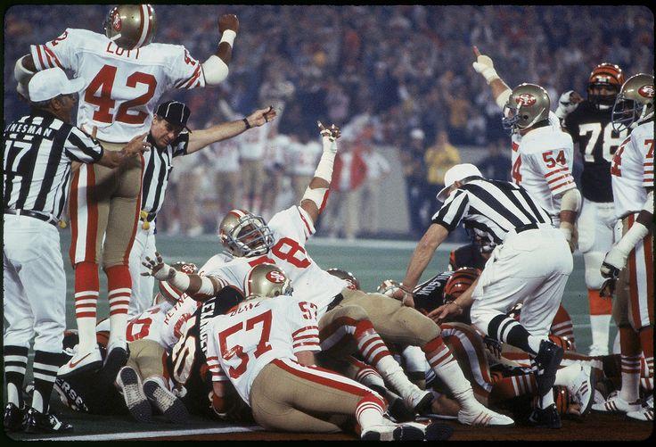 Super Bowl XVI: San Francisco d. Bengals 26-21 @ Pontiac Silverdome January 24, 1982