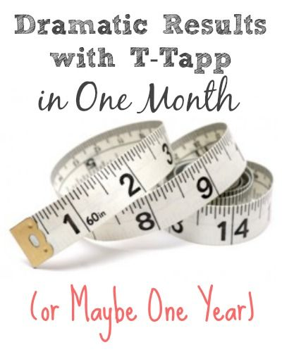 tape measure dramatic results t tapp Dramatic Results in One Month (or Maybe One Year)