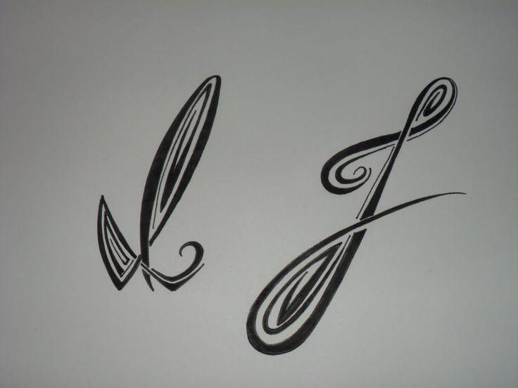 Letras tribales I y J. Bases elementales para dibujar letras tribales.