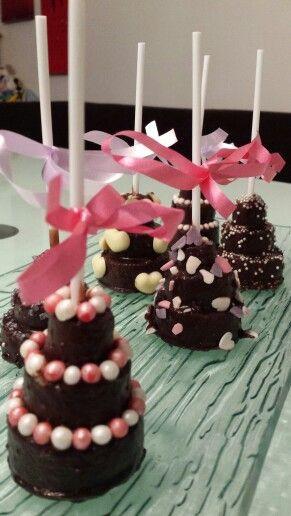 Torten Cake pops- wedding give away's