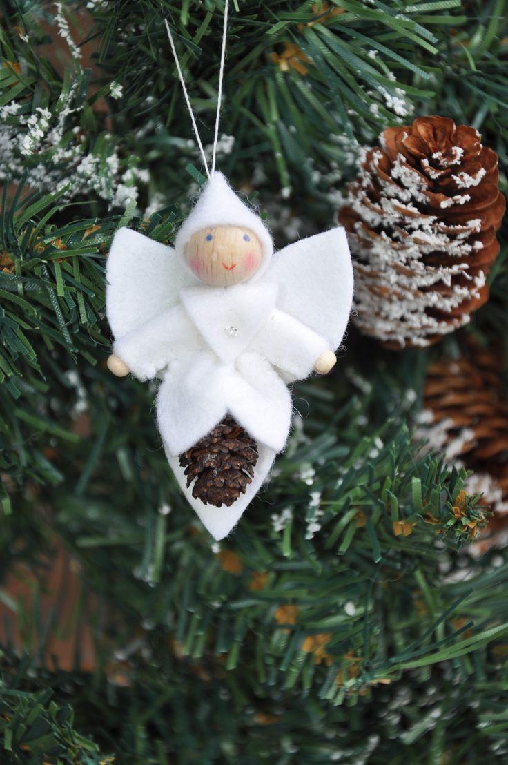 Engel Propje | Kerst | Decoraties | Vilt | Handwerk | zelfmaakpakketjes | Atelier Wilma Creatief