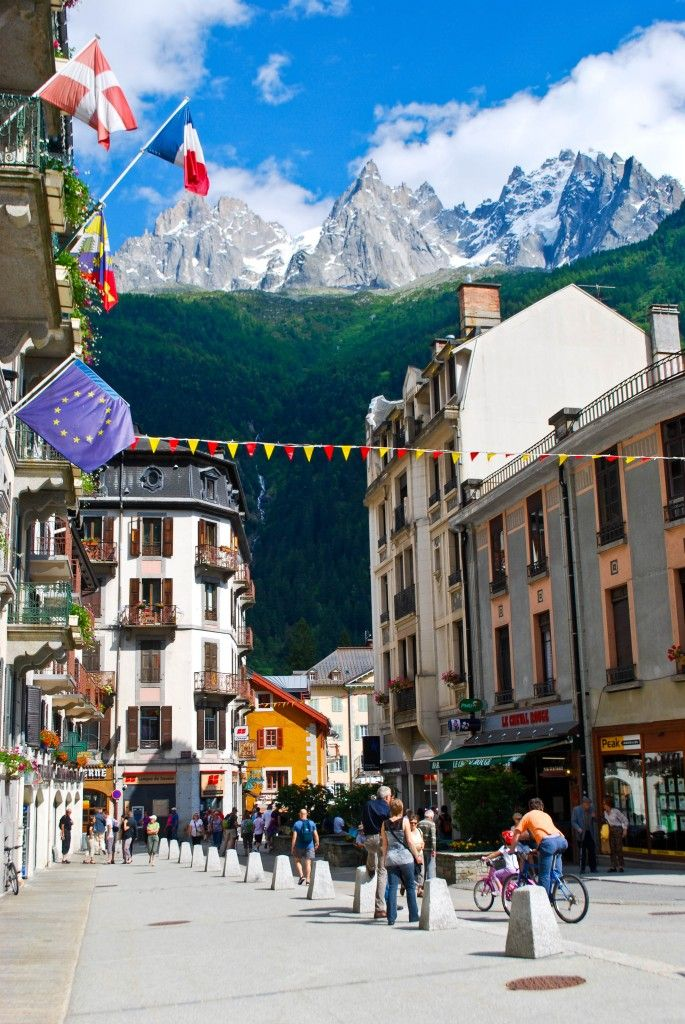 "Chamonix, France - This Alpine town at the base of Mont Blanc is aptly nicknamed ""France for the Fearless."" It's a popular winter spot with skiers but also has lots of outdoor adventure to offer in the summer months."