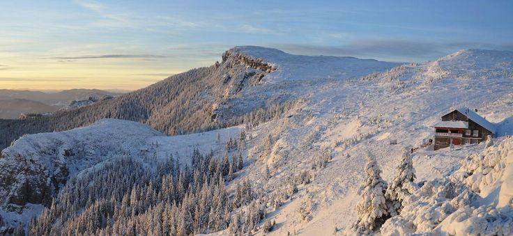Ceahlau Mountains in the winter, Romania #visitromania #travel