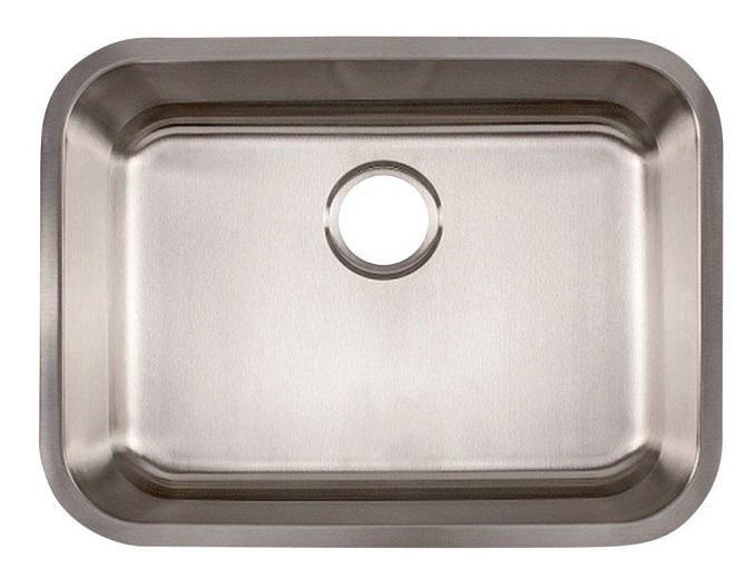 Franke EVSS800-20 Undermount One Bowl Kitchen Sink, Satin, Stainless Steel, 20 gauge