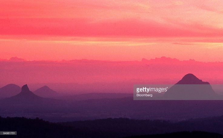 Image result for glasshouse mountains sunset