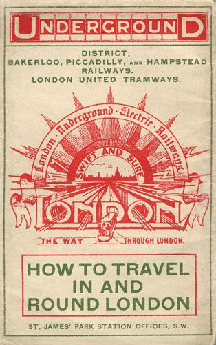 Credit: London Transport Museum The cover of a pocket London Underground map from 1908 ...