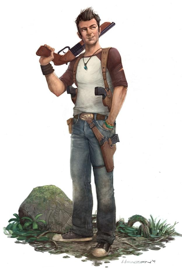 Uncharted: Drake's Fortune -   Early Concept Art of Nathan Drake