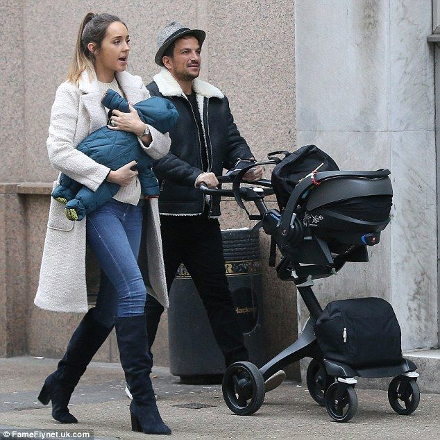 Out and about:Peter Andre and Emily MacDonagh continued to indulge in quality time with b...