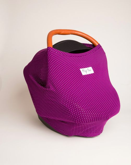 Penticton Purple Dots cover made from buttery soft sustainable organic cotton.