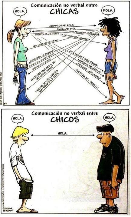 humor grafico diferencias comunicacion no verbal hombre mujeres