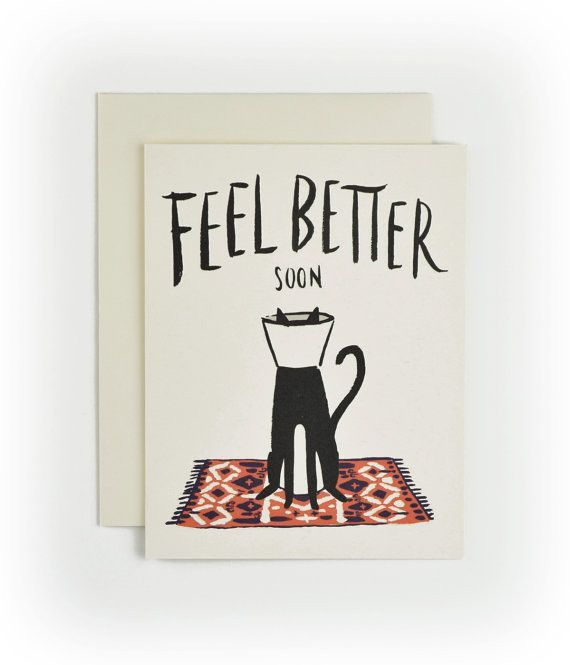 Cat Cone | Feel Better Card