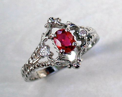 Filigree Style Engagement Ring. Would be amazing with a diamond and rose gold band