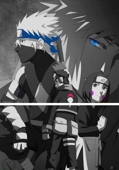 Naruto - Kakashi & team #naruto #rin #obito #kakashi