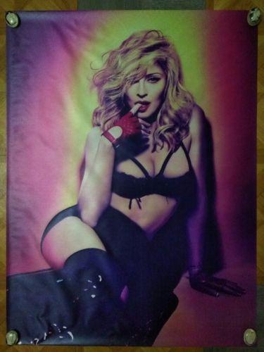 #art Madonna Rare MDNA Vinyl Silk Cloth type Material Music Poster 23 1/2×31 Pop Icon please retweet