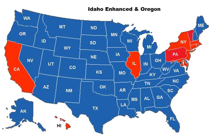 CCW Reciprocity Coverage Map for the Idaho Enhanced CCW Permit | Idaho Firearms Classes