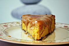 Kürbis Cheesecake mit Dulce de Leche Topping