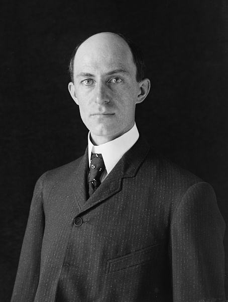 Wilbur Wright. The first who flyed with his brother.