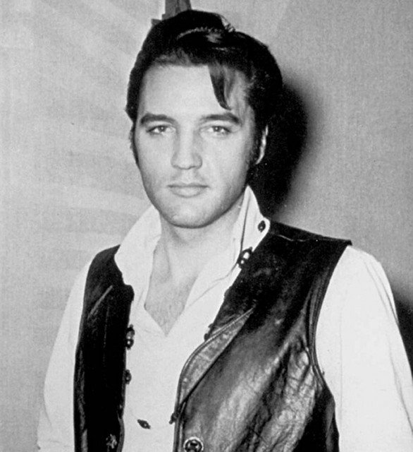 Elvis during the making of the NBC '68 Comeback Special