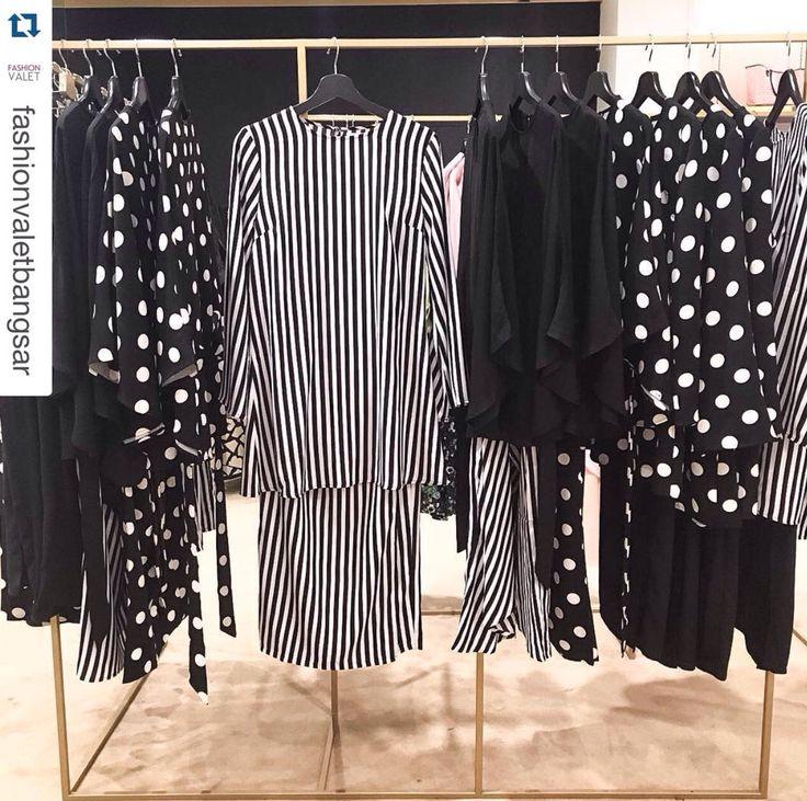 EID 2016 Hijab style chic modest fashion modest dressing modest style modest chic Hijab Muslimah FvRaya2016 Raya Lebaran kurung Sydney Australia Kuala Lumpur Black and White Fashion Valet Bangsar Villave FvBv retail store offline shopping