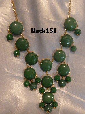 Necklace Dark Green Beaded #Neck151