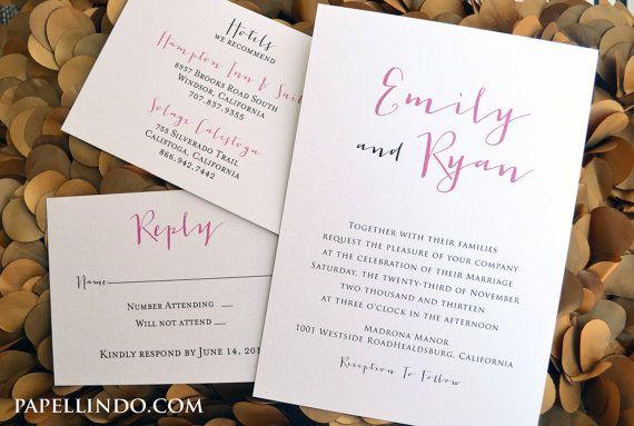 Informal Wedding Invitation Wording Bride And Groom Hosting: 25+ Best Ideas About Casual Wedding Invitations On