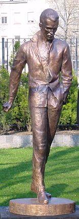Great Hungarian poet Attila József statue
