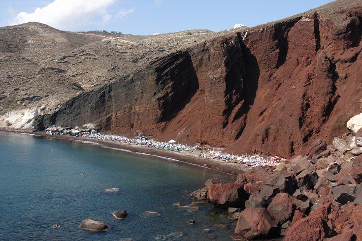 #RedBeach #Santorini #Greece #Cyclades #AegeanSea