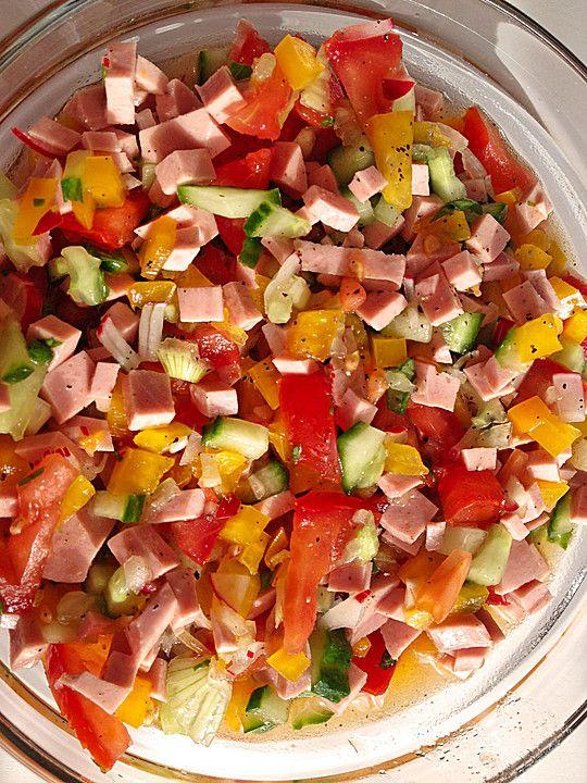 Salat mit obst dressing