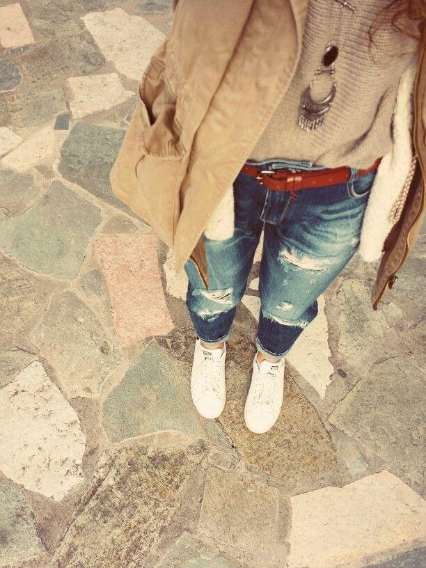 #boyfriend #jeans #adidas #stan_smith