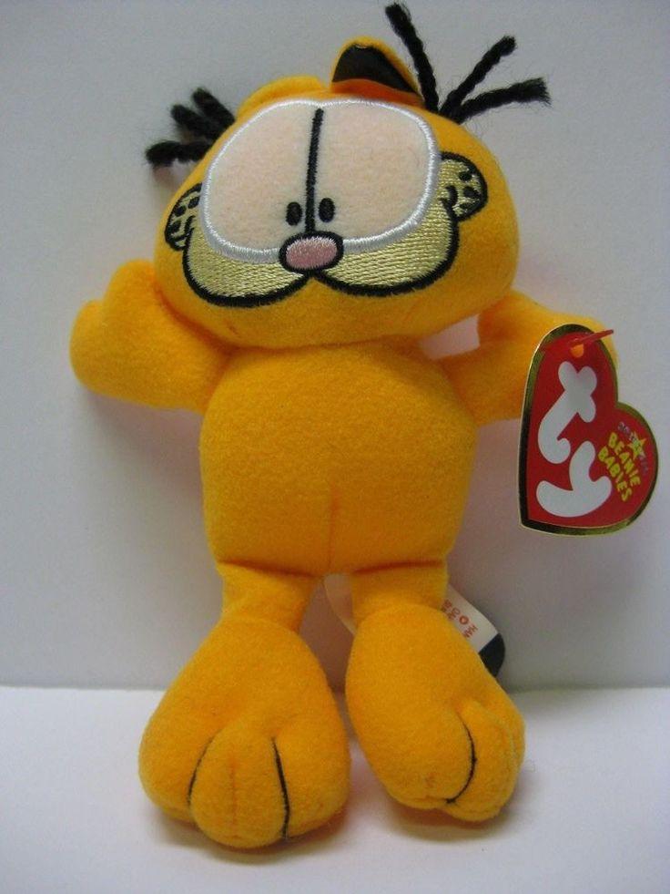 "GARFIELD CAT  2006 RARE Ty Beanie Babies 5"" tall Plush  -All original tags #Ty"