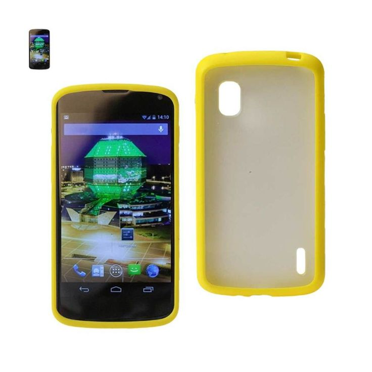 Reiko REIKO LG NEXUS 4 FRAME BUMPER CLEAR BACK CASE IN YELLOW. Constructed from impact-resistant material and double-enforced with a shock absorbing silicone inner-sleeve. Heavy duty design with front raised edges to protect your mobile device and touchscreen. Protects your phone under extreme conditions and a host of other environmental factors great dropproof and shockpoorf protection.Condition : This item is brand new, unopened and sealed in its original factory packaging.