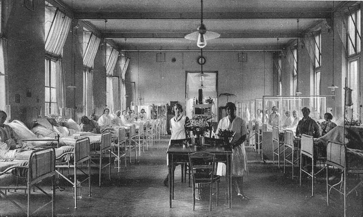 Ziekenhuis vroeger UMCG rond 1900