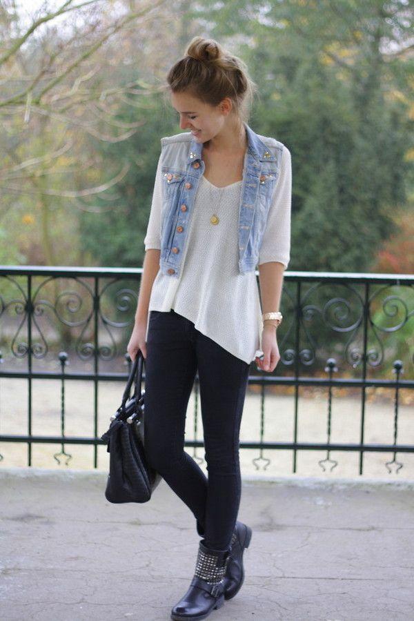 My Favorite Denim Vest Looks For The Fall | Lovelyish