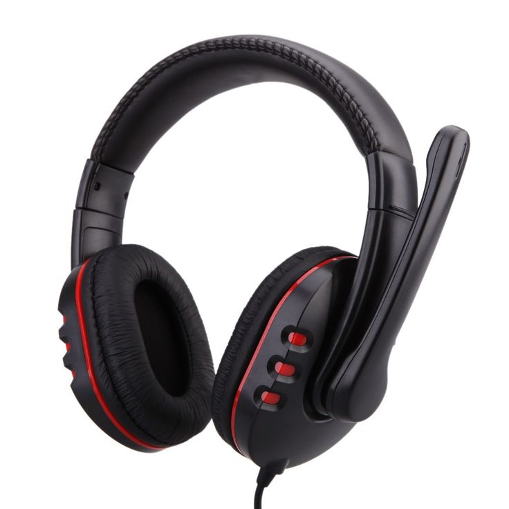 black Gaming Headset Headphone with Microphone and Volume Control for - Tomtop.com