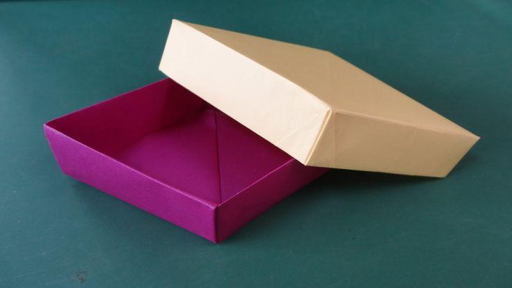 """折り紙「ひし形の箱」折り方""""Lozenge Box""""Origami"""