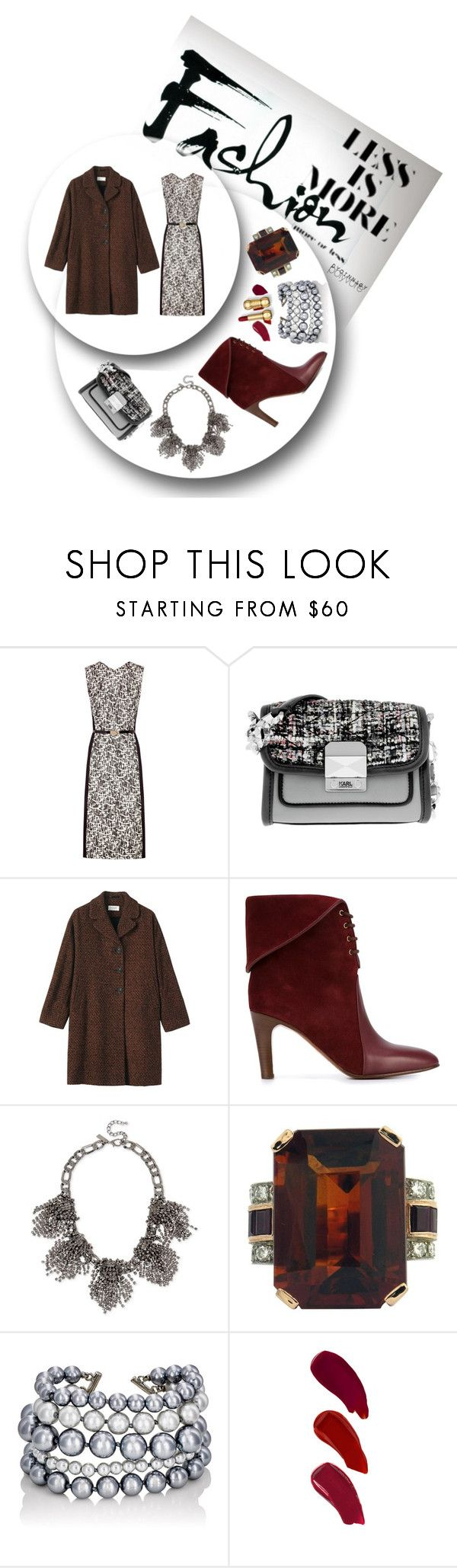 """""""Less Is More"""" by dycinnagy ❤ liked on Polyvore featuring Jason Wu, Karl Lagerfeld, Toast, Chloé, INC International Concepts, Kenneth Jay Lane, Ellis Faas, lessismore and tweed"""