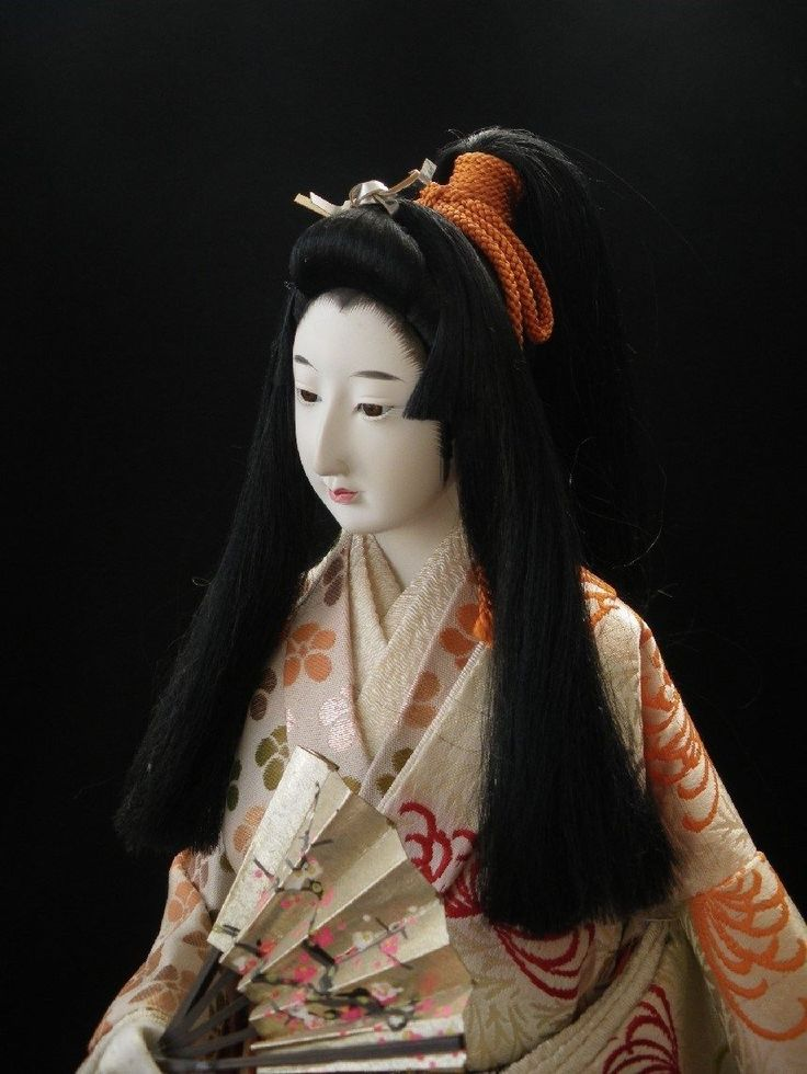 geisha silk matted dolls japaneese