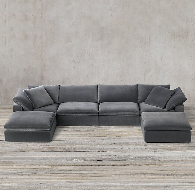 Cloud Modular U Chaise Sectional Modular Sofa Sectional Low Couch