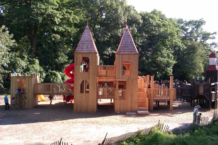 A beautiful and majestic children's play structure in the heart of High Park in Toronto.