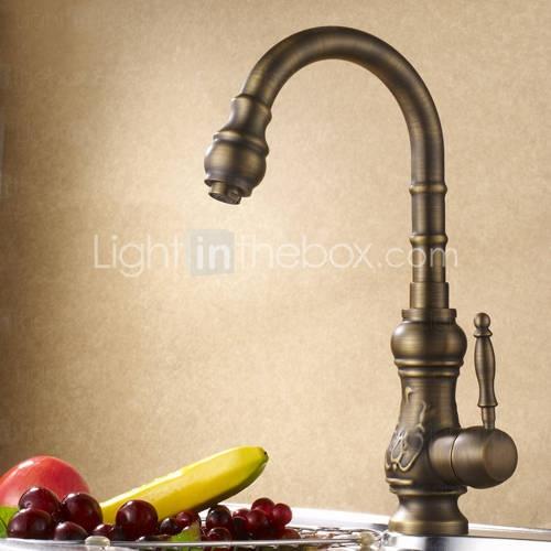 antica cucina rubinetto di ottone (finitura rame antico)