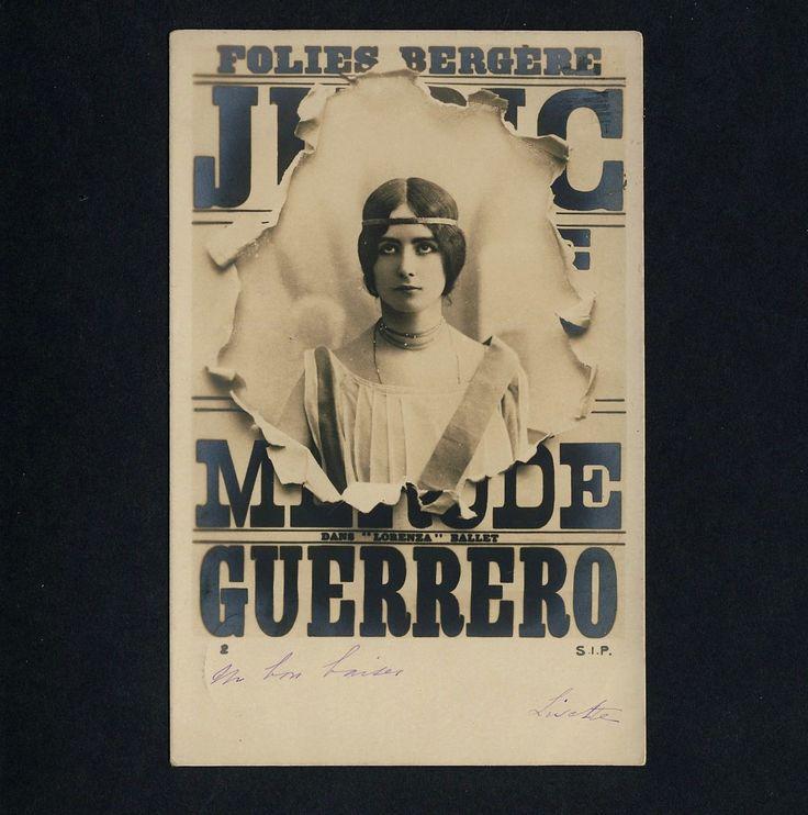 CLEO DE MERODE  FOLIES-BERGERE PARIS Cabaret * Vintage 1900s