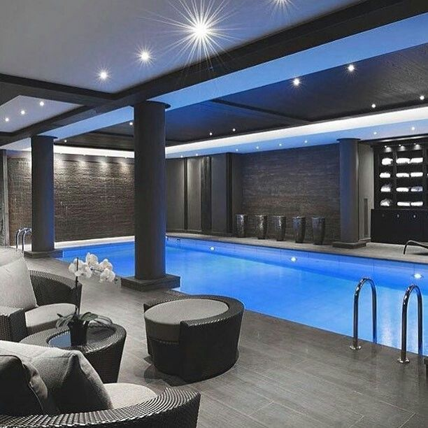 22 best images about indoor pool on pinterest house for Basement swimming pool ideas