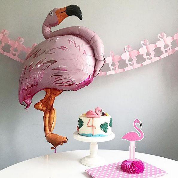 Flamingo birthday party - decoration, balloon