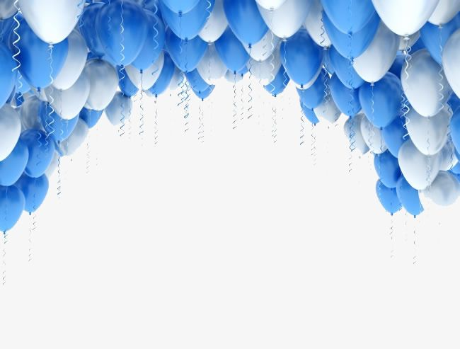 Blue Balloon Blue Frame Balloon Png Transparent Clipart Image And Psd File For Free Download Blue Balloons Balloons Round Balloons