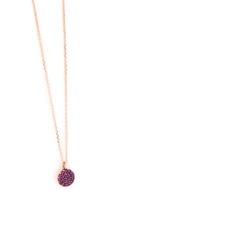 - rainbow necklace - gold + colorful