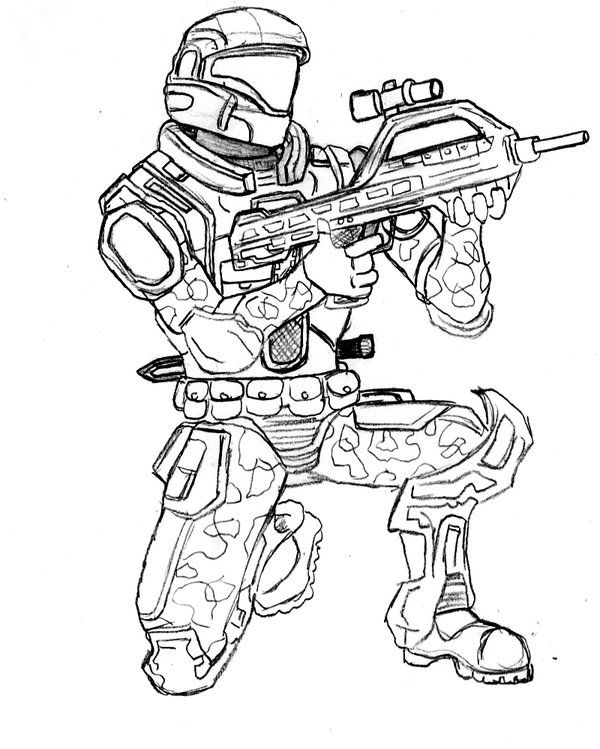 My First Odst By Crashybandicoot Call Of Duty Coloring Pages Modern Warfare