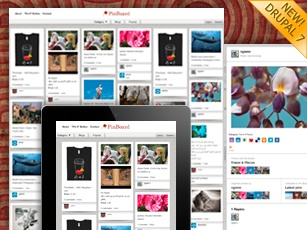 Drupal Pinterest clone