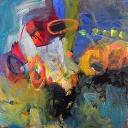 Anna Hryniewicz, traces of personality, acrylics on canvas