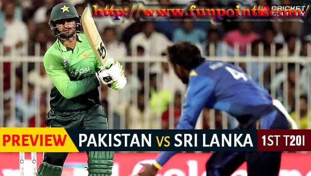Pakistan vs Sri Lanka, 1st T20I, Oct 26, Pakistan v Sri Lanka in UAE, 2017 with live Cricket streamin, ball by ball commentary updates on funpointz......